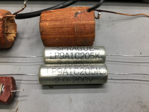 英EMI 92390PF(15Ω) 同軸ユニット オーバーホール|新品同種同規格のコンデンサに交換